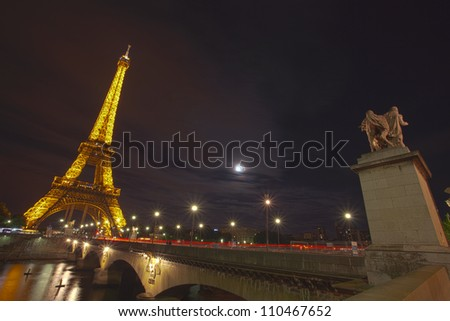 Eiffel Tower at Night - Paris, France
