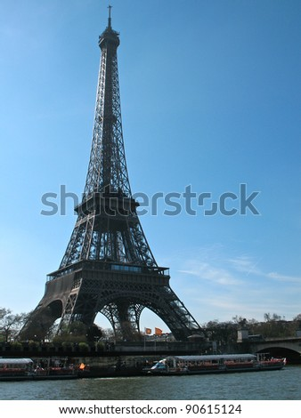 Eiffel Tower at the River Seine