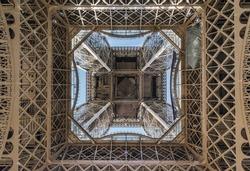 Eiffel Tower from bottom. Paris, France