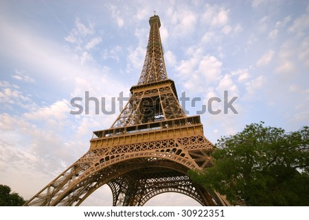 Eiffel Tower in late afternoon light