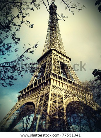 eiffel tower in Paris #77531041