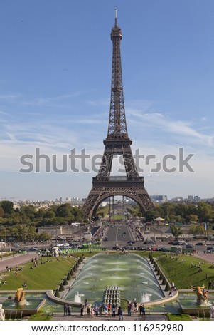 Paris France Eiffel Tower Pictures on Eiffel Tower In Paris  France Stock Photo 116252980   Shutterstock