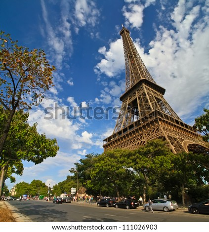 Eiffel Tower in paris France during sunny day