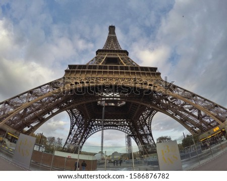 Eiffel Tower in Paris FRANCE. iconic Tower in europe Stok fotoğraf ©