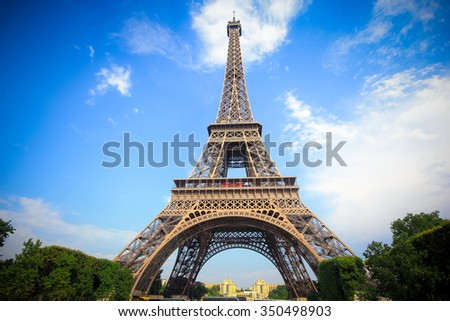 Eiffel tower Landmark of Paris, France stock photo