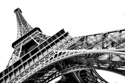 Eiffel Tower on a white background