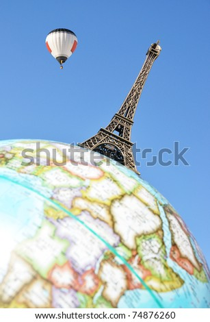 Findpicture  Eiffel Tower on Eiffel Tower On The Globe Stock Photo 74876260   Shutterstock