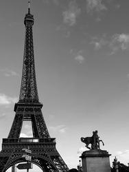 Eiffel Tower Paris France BlackAndWhite