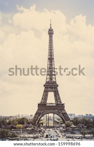 eiffel tower  paris  vintage