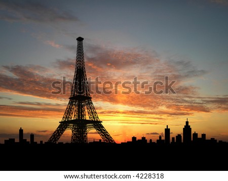 Picture Eiffel Tower Sunset on Eiffel Tower Eiffel Tower Sepia Toned Paris Find Similar Images