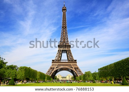 Eiffel Tower, symbol of Paris stock photo