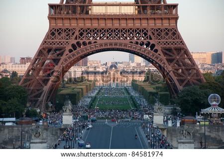 Eiffel tower, the famous landmark of Paris, France.