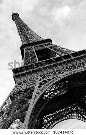 Eiffel Tower viewed from the ground