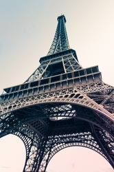 Eiffel Tower with pastel colour 02