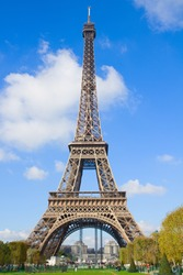 eiffelTower in sunny day in Paris,  France