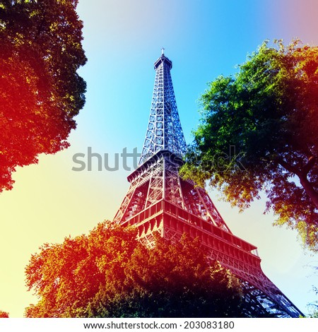 Eiffle Tower filter art photography Paris France