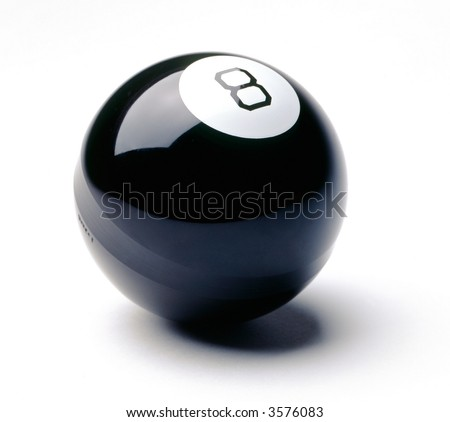 eight ball on white