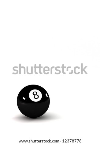 Eight ball - symbol for success - closeup on eightball with light reflections