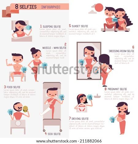 eight selfies infographic