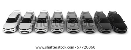 Eight sporting car on a white background - Original design