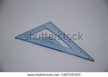 eighteen centimeter transparent blue plastic bevel