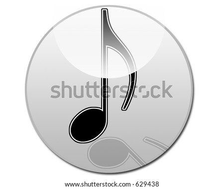 Eighth Note Musical Note Button