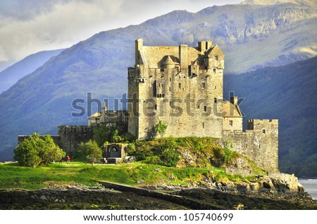 Eilean Donan Castle is a small island in Loch Duich in the western Highlands of Scotland. It is connected to the mainland by a footbridge and lies about half a mile from the village of Dornie.
