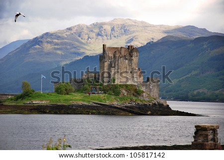 Eilean Donan Castle is a small island in Loch Duich in the western Highlands of Scotland. It is connected to the mainland by a footbridge and lies about half a mile from the village of Dornie