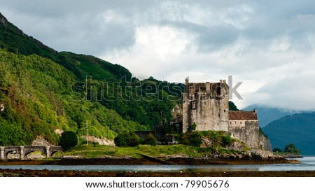 Eilean Donan castle, one of the most popular monuments in Scotland, Great Britain