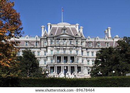 Eisenhower Executive Office Building in Washington, DC, USA