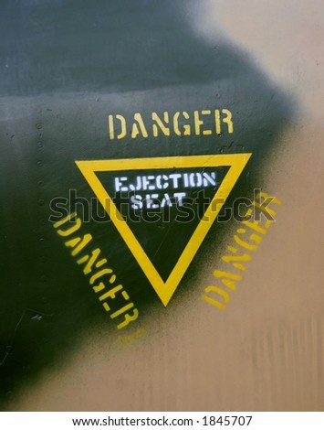Ejection information on a fighter-jet
