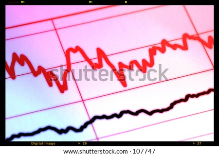 EKG Style Stock Chart With Frame and Color Effect