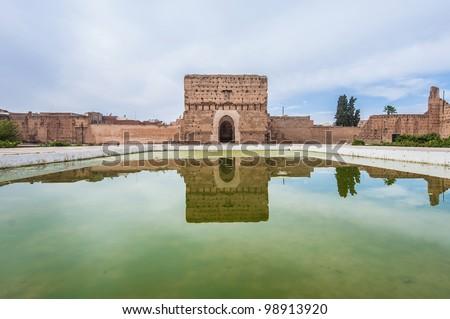 El Badi Palace Audience Pavilion at Marrakech, Morocco