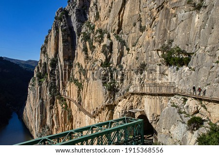 El Caminito del Rey (The King's Little Path). It has been known in the past as the 'world's most dangerous walkway'. Foto stock ©