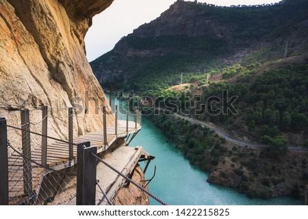 El Caminito del Rey (The King's Little Path), Malaga province, Spain Foto stock ©