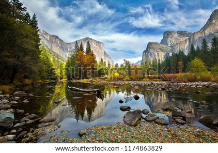 El Capitan and Merced River in the Autumn  #1174863829