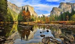 El Capitan and Merced River in the Autumn, California-USA