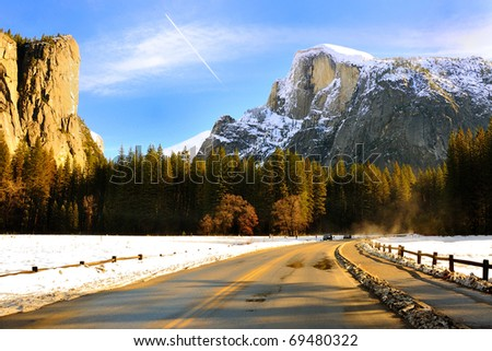 El Capitan & Half Dome Yosemite National Park, California