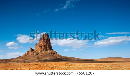 El Capitan Peak just north of Kayenta, Arizona in Monument Valley.
