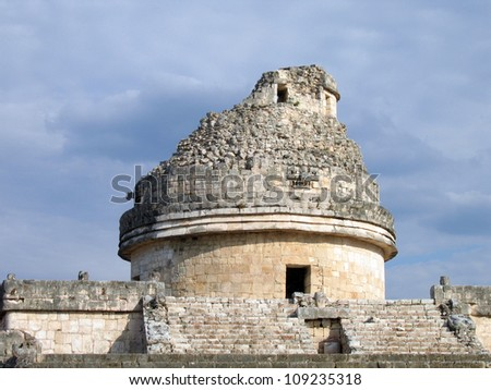 El Castillo the castel of Chichen Itza in the yucatan was a Maya city and one of the greatest religious center and remains today one of the most visited archaeological sites in Mexico