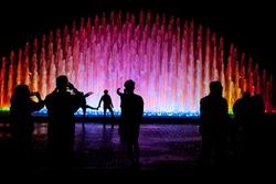 El Circuito Magico del Agua - park with a series of different fountains in Lima, Peru.
