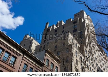 El dorado building from black, Upper West side, New York Stock fotó ©