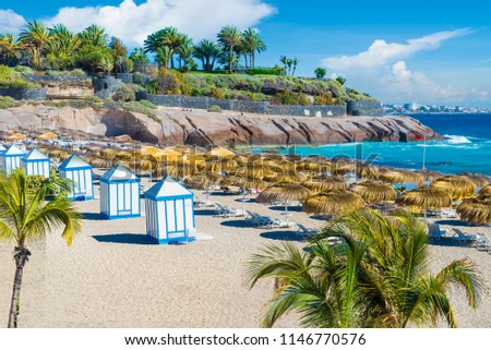 El Duque beach at Costa Adeje. Tenerife, Canary Islands, Spain #1146770576