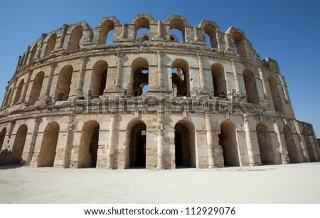 El Jem, Roman coliseum in Tunisia