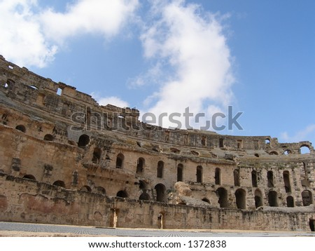 El Jem-World`s third largest Roman amphitheatre and the best -preserved Roman relic in Africa