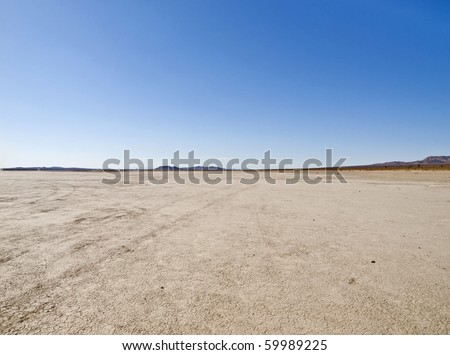 El Mirage dry lake in California's Mojave Desert.