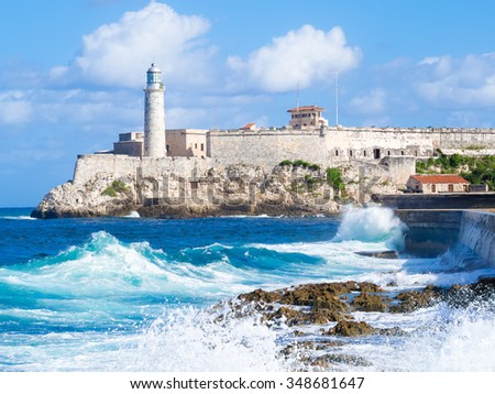 el morro castle in havana with...