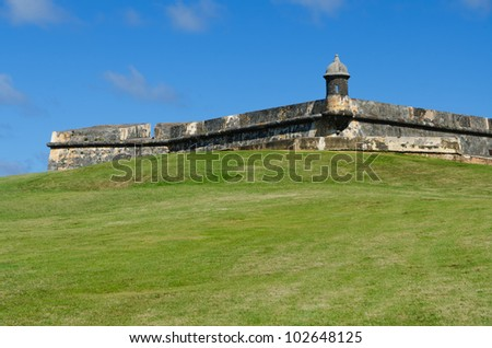 El Morro fortress  in Old San Juan, Puerto Rico