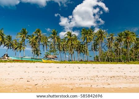 EL NIDO, PALAWAN - JANUARY 15, 2017 -  Beautiful tropical island,Philippines.Incredibly beautiful seascape. #585842696