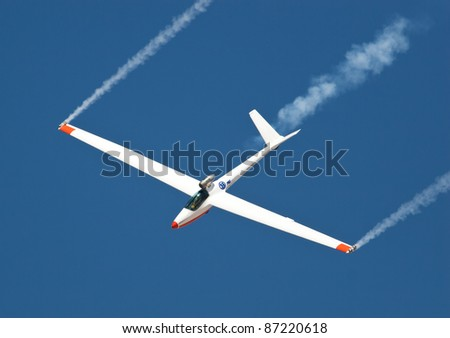 EL PASO – OCTOBER 21:  Bob Carlton puts on an aerial display at Fort Bliss, Biggs Airfield, during the practice session at the 30th Anniversary Amigo Airsho on October 21, 2011 in El Paso, Texas.